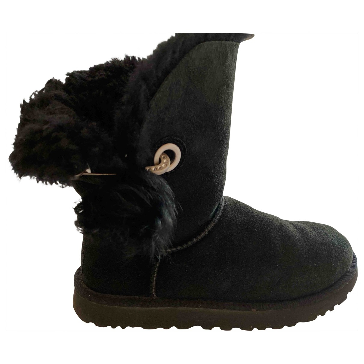 Ugg \N Black Suede Boots for Women 37 EU