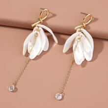 Petal Decor Drop Earrings