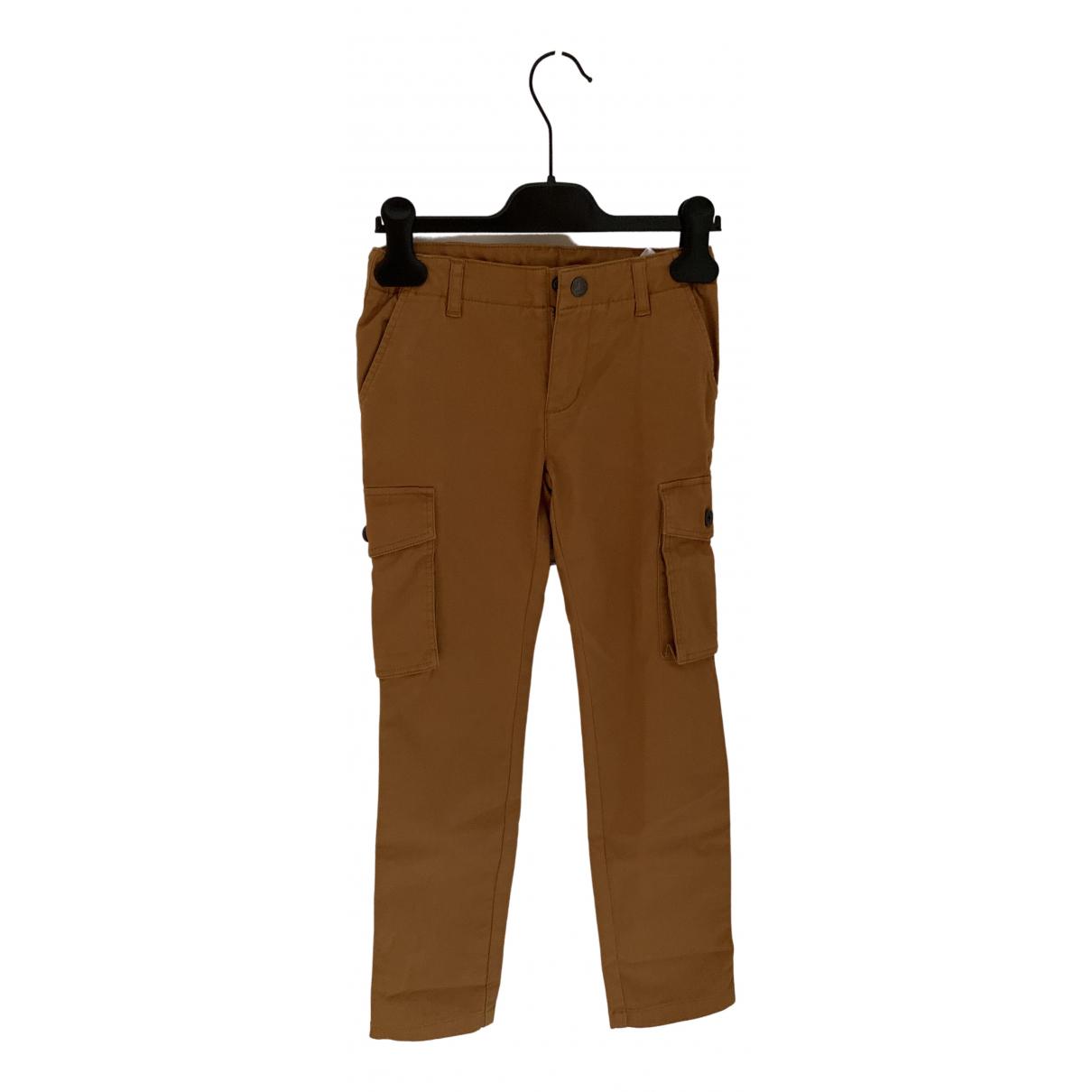 Pantalones en Algodon Marron Petit Bateau