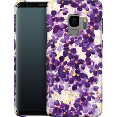 Samsung Galaxy S9 Smartphone Huelle - Violet Bloom von Amy Sia