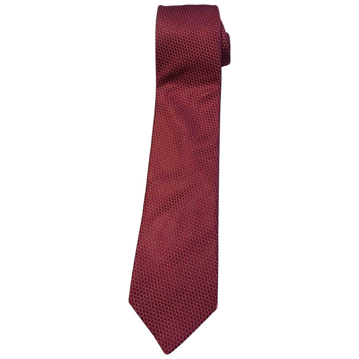 Lanvin \N Krawatten in  Bordeauxrot Seide