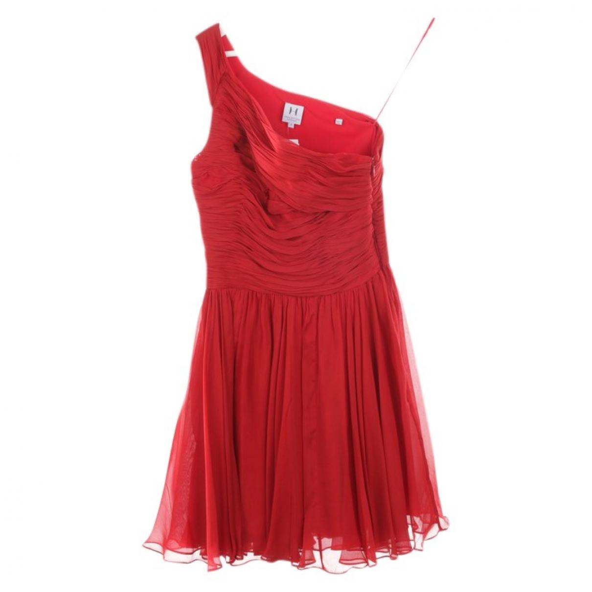 Halston Heritage \N Kleid in  Rot Seide