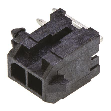 Molex , Micro-Fit 3.0, 43045, 2 Way, 2 Row, Right Angle PCB Header (5)