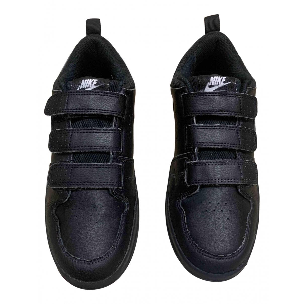 Nike - Baskets   pour femme en cuir verni - noir