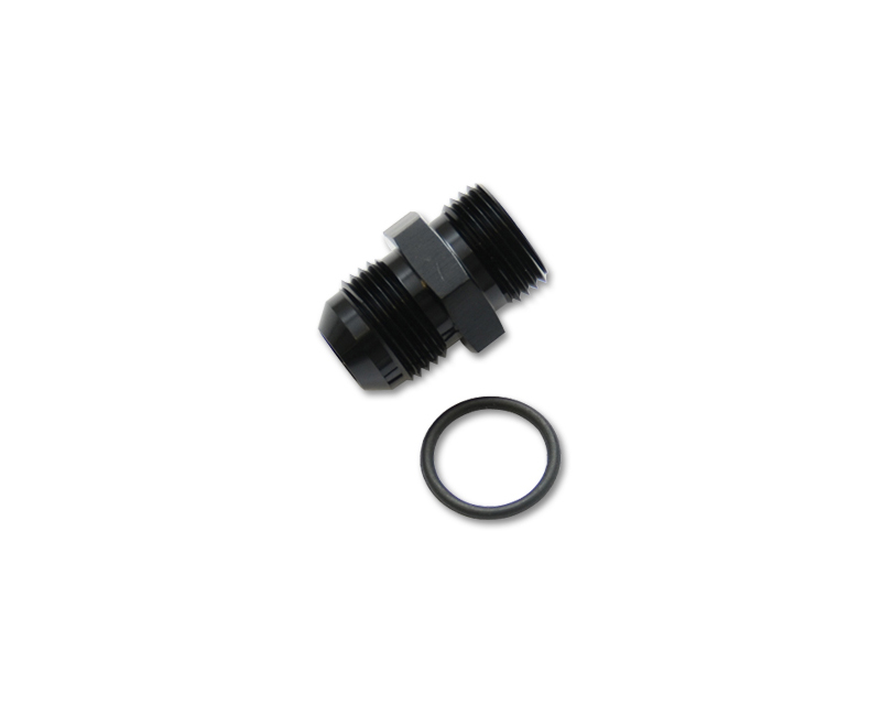 Vibrant Performance 16833 Anodized Black -8AN Flare to -12AN Straight Cut Adapter Fitting with O-Ring