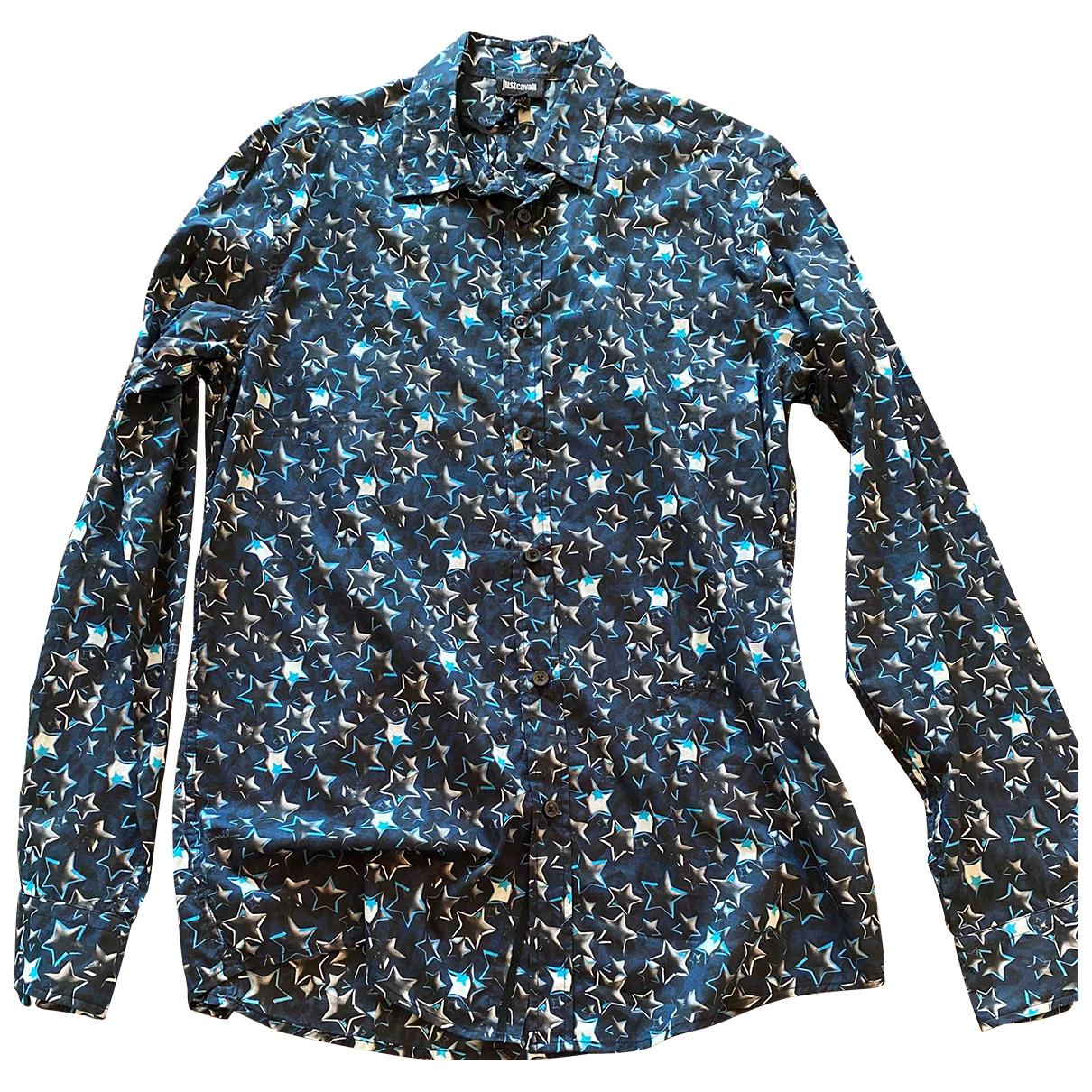 Just Cavalli \N Navy Cotton Shirts for Men M International