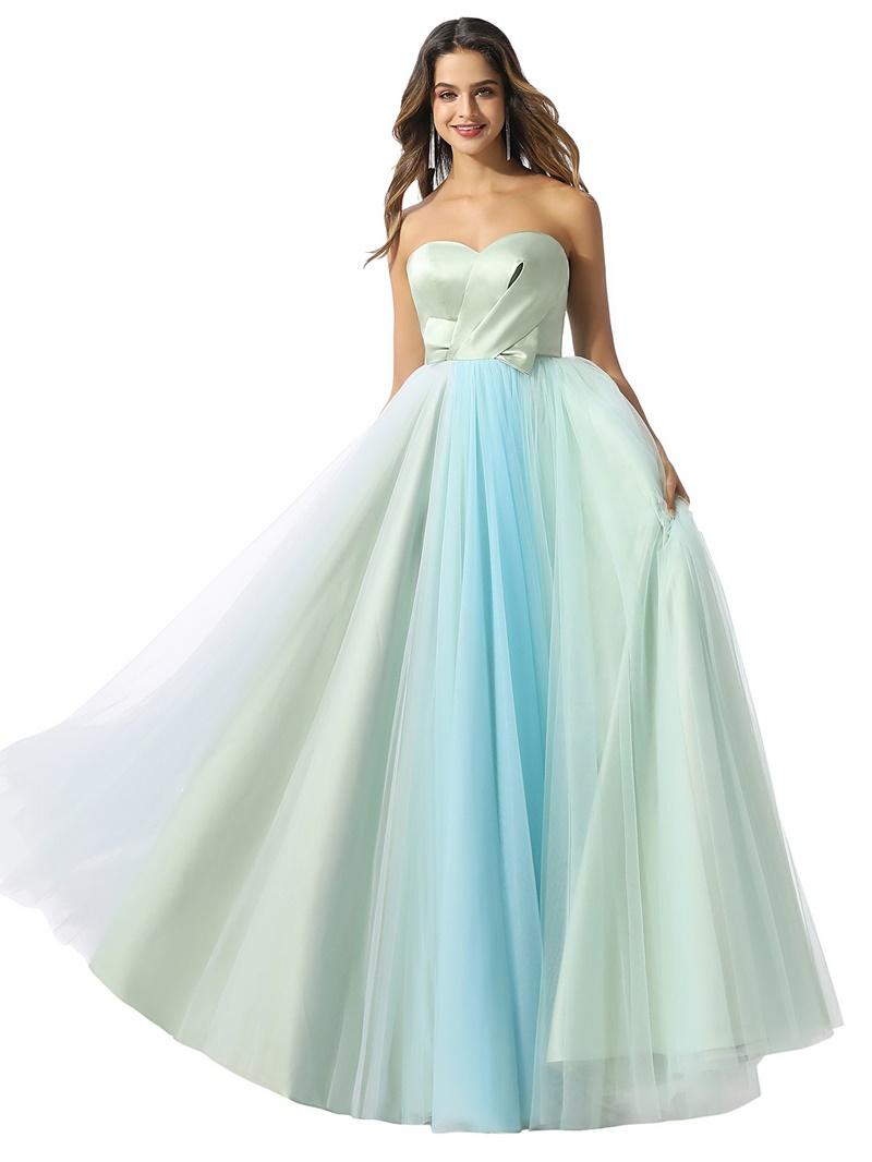 Ericdress Pleats Sweetheart Sleeveless Floor-Length Prom Dress 2020