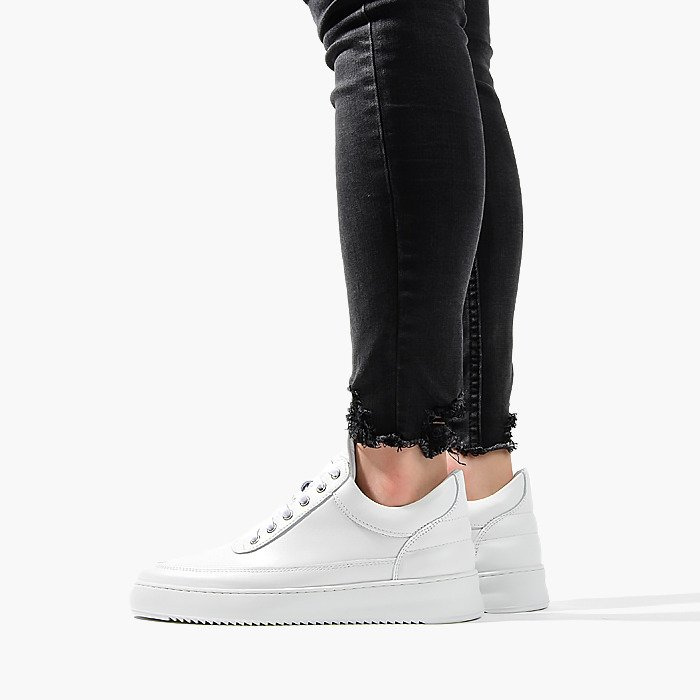 Filling Pieces Low Top Ripple Lane Nappa All White 25121721855PFH
