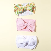 3 Stuecke Baby Kopfband mit Schleife Dekor
