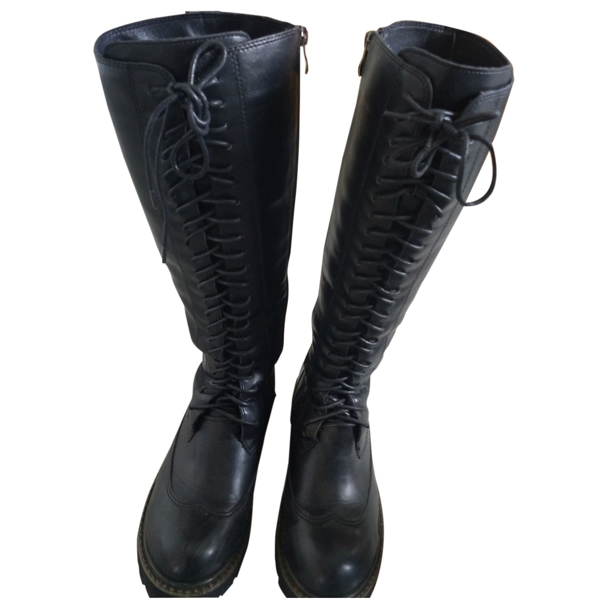 Non Signé / Unsigned \N Black Faux fur Boots for Women 39 EU