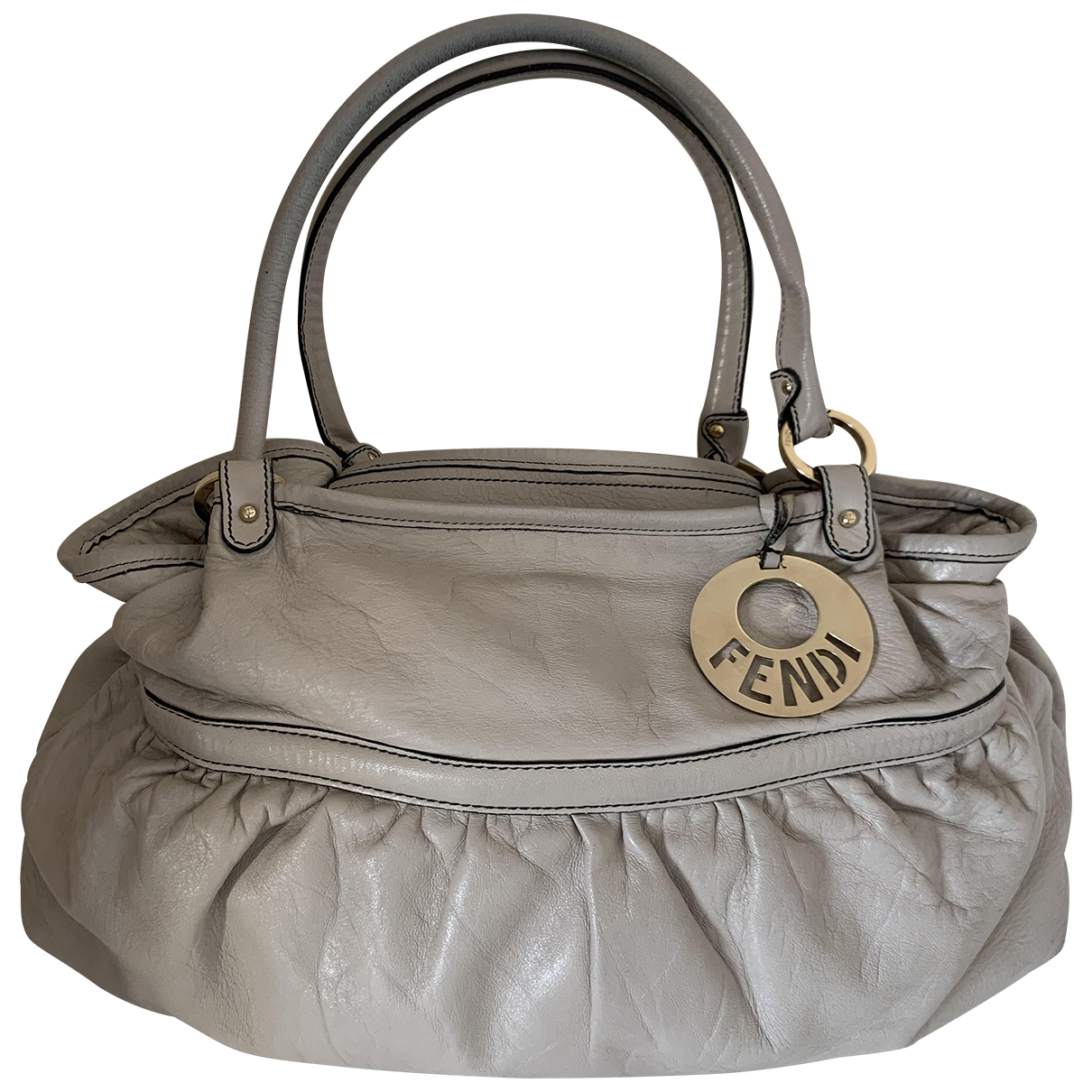 Fendi Chef  Beige Leather handbag for Women N