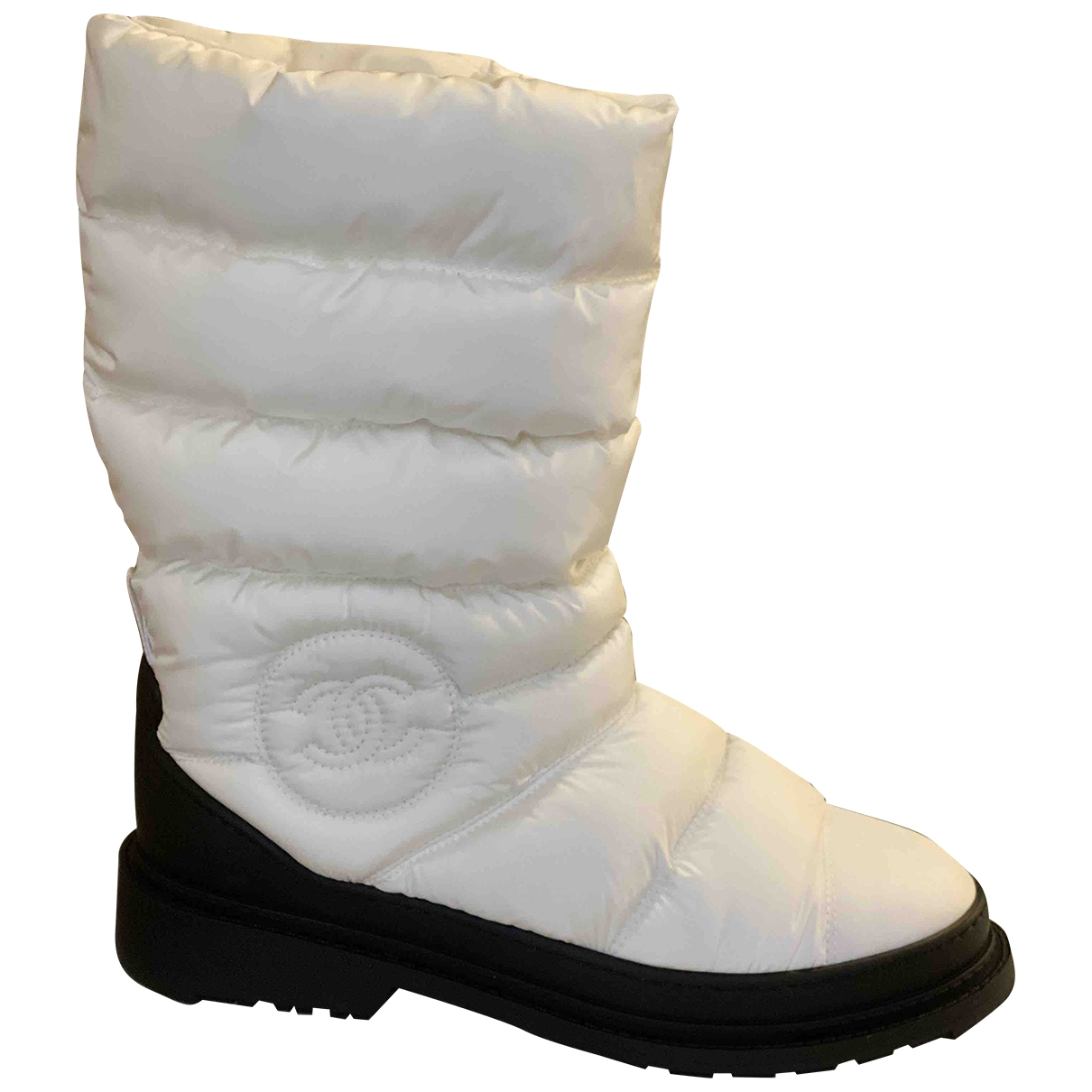 Chanel - Bottes   pour femme en toile - blanc