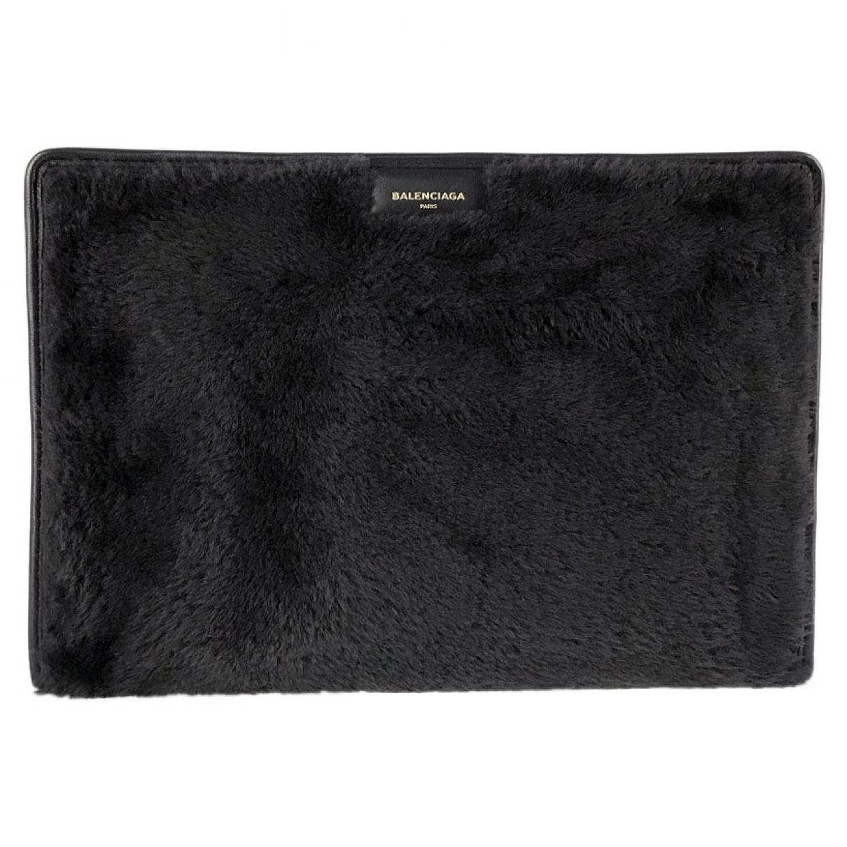 Balenciaga - Pochette   pour femme en mouton - noir