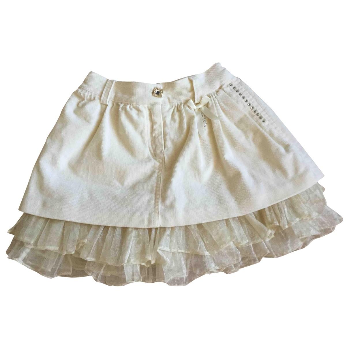 Blumarine - Jupe   pour enfant en coton - ecru