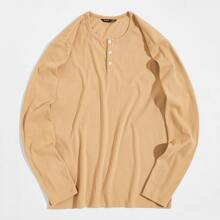 Camiseta tejida de canale tapeta media con boton