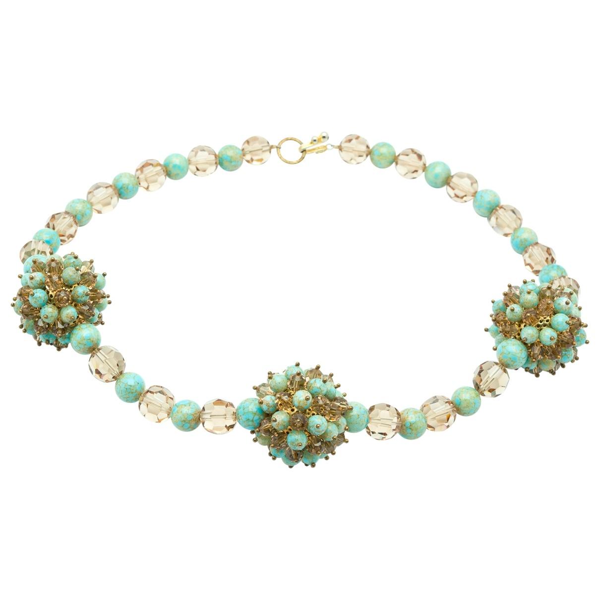 Dior - Collier   pour femme en verre - turquoise