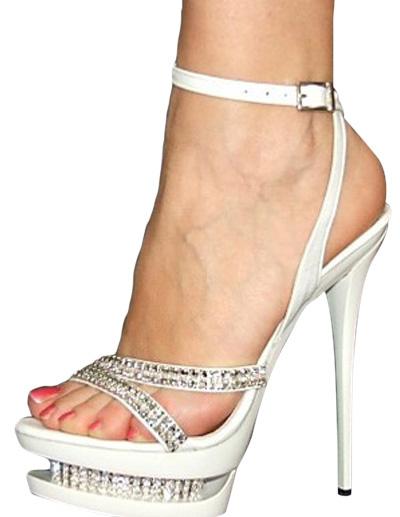 Milanoo Platform Patent Leather Sandals
