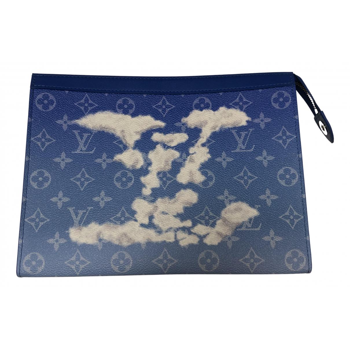 Louis Vuitton - Petite maroquinerie   pour homme en toile - bleu