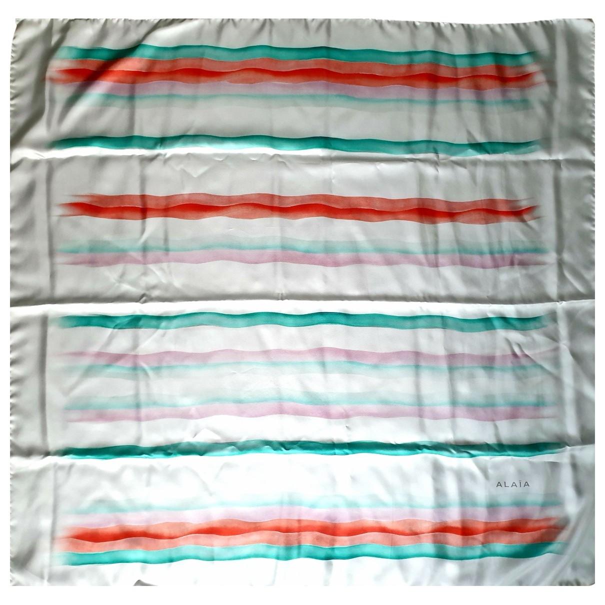 Alaia - Foulard   pour femme en soie - multicolore