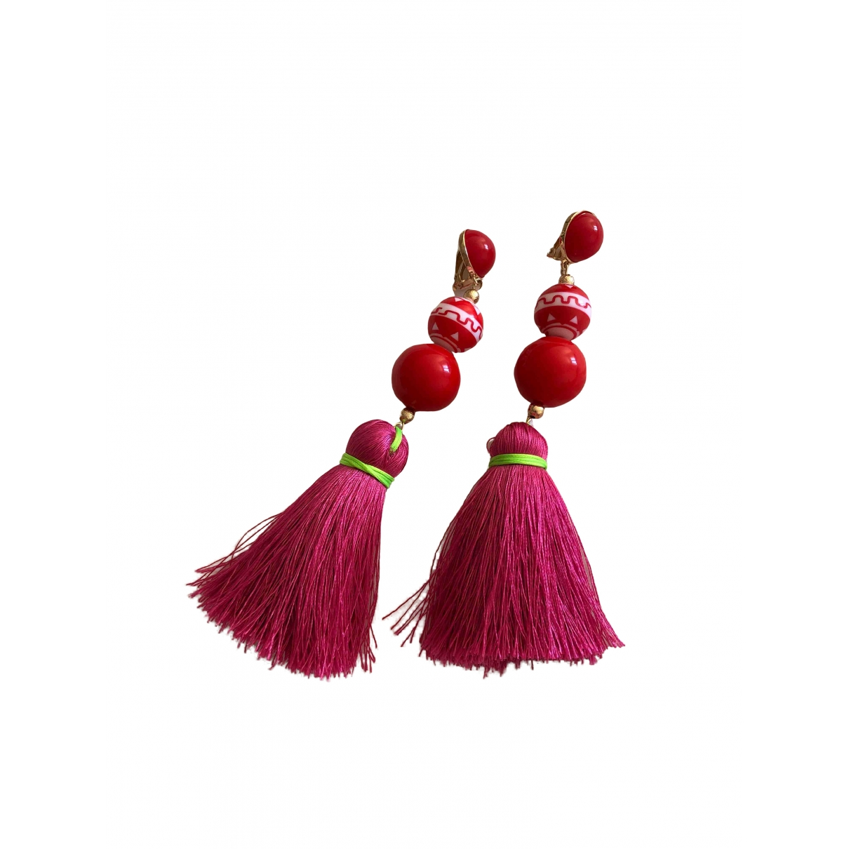 Uterque \N OhrRing in  Rosa Kunststoff