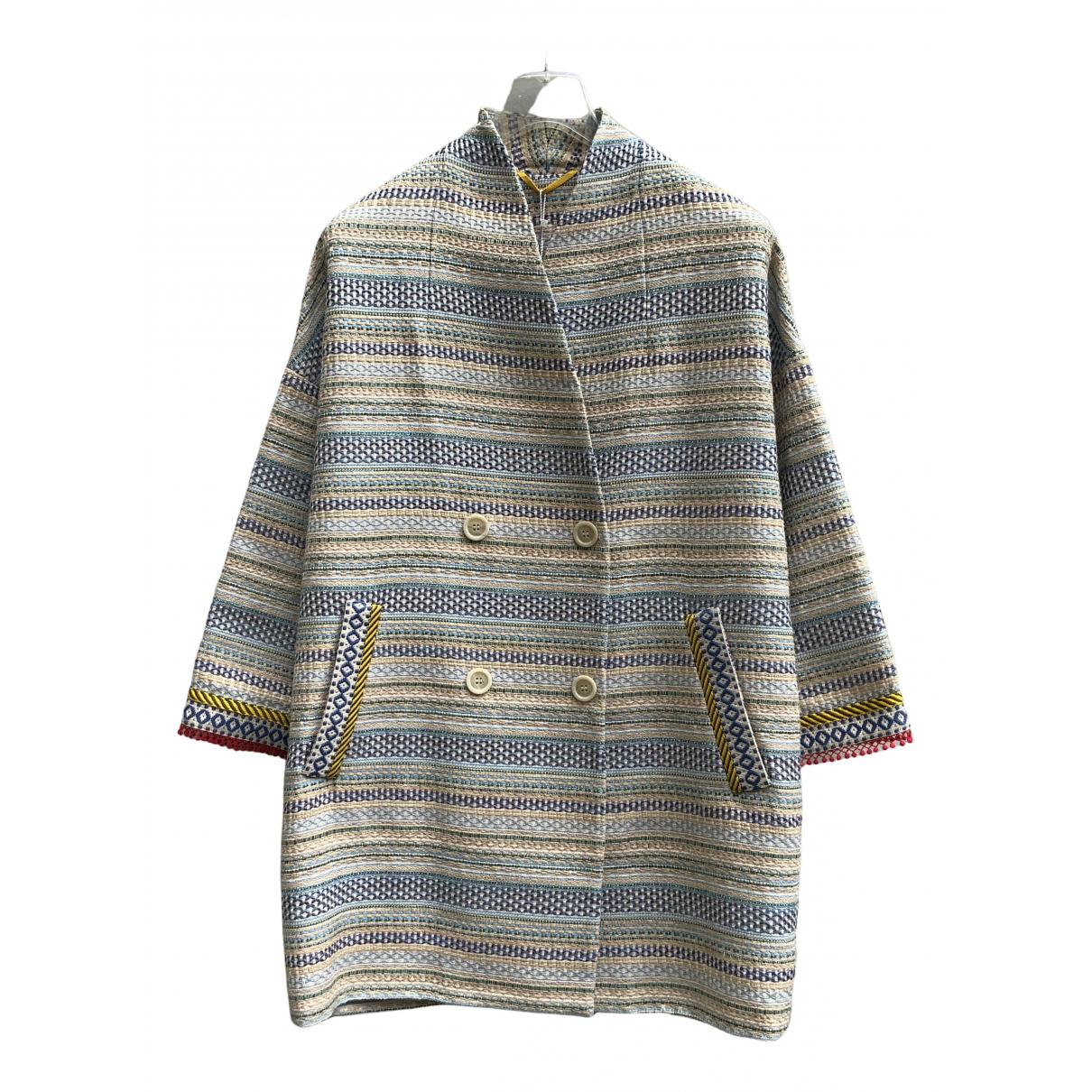 Max Mara Weekend - Manteau   pour femme en coton - gris