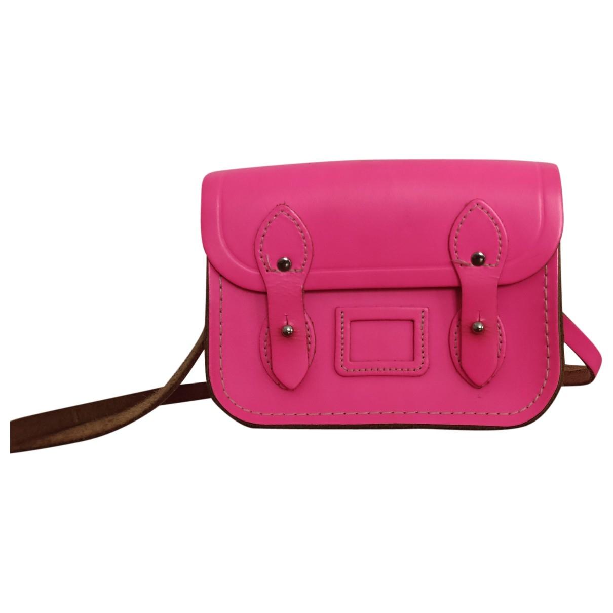 Non Signe / Unsigned \N Handtasche in  Rosa Leder