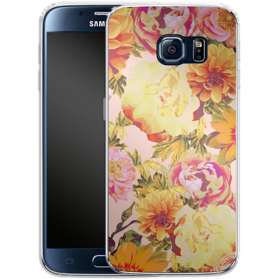 Samsung Galaxy S6 Silikon Handyhuelle - Tropicana Bouquet von Zala Farah