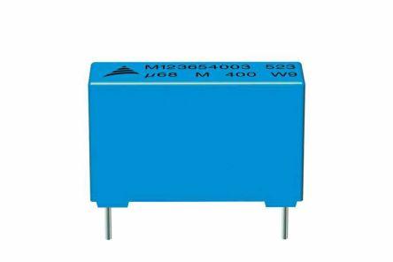 EPCOS 3.3μF Polyester Capacitor PET 160 V ac, 250 V dc ±10%, Through Hole (510)