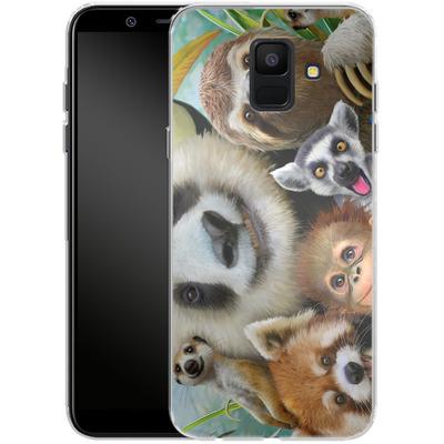 Samsung Galaxy A6 Silikon Handyhuelle - Zoo Selfie von Howard Robinson