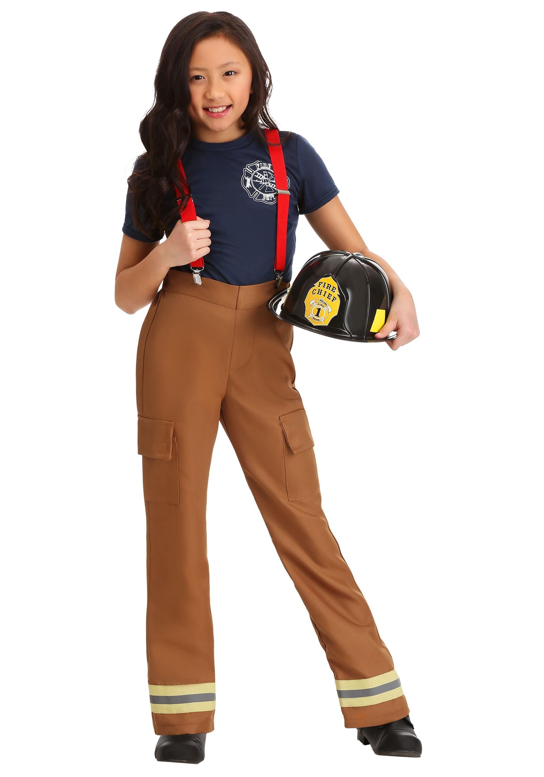 Fire Captain Girl's Costume