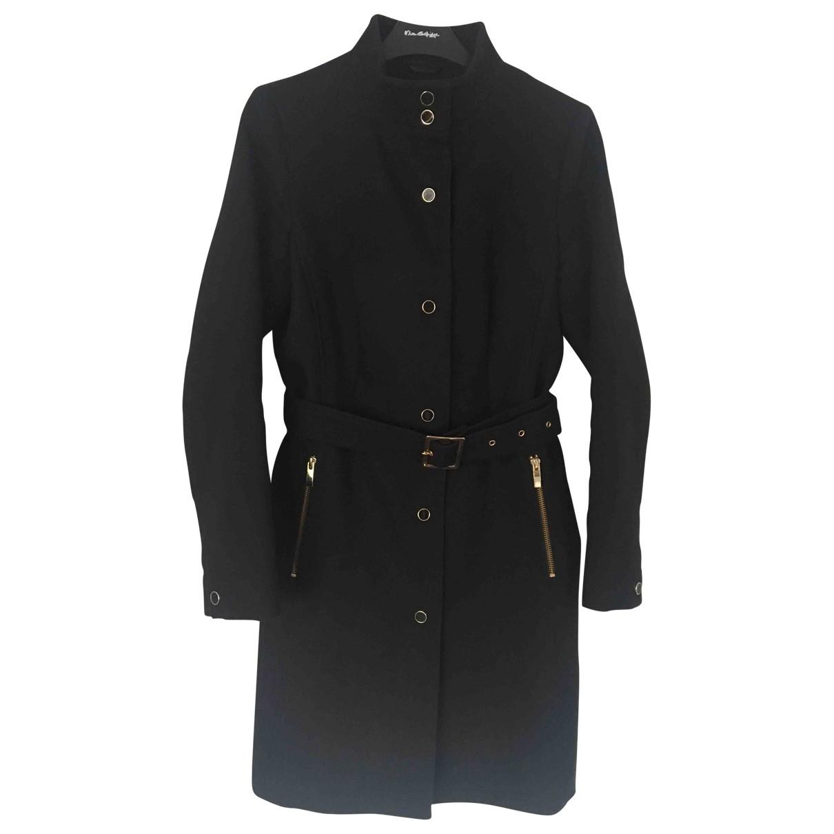 Reiss - Manteau   pour femme en coton - noir
