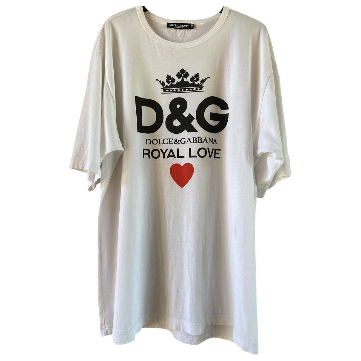 Dolce & Gabbana \N White Cotton T-shirts for Men L International