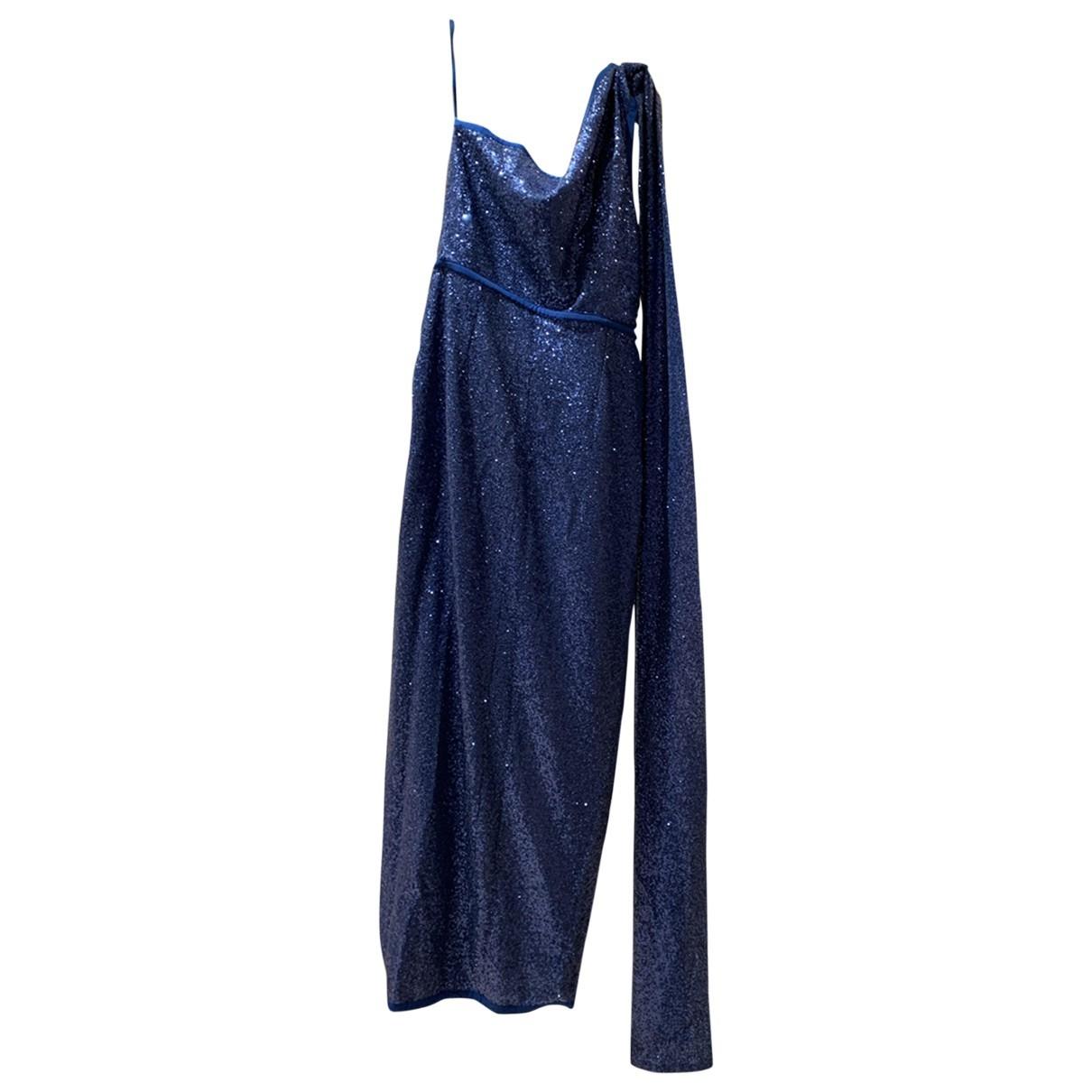 Elie Saab - Robe   pour femme en a paillettes - bleu