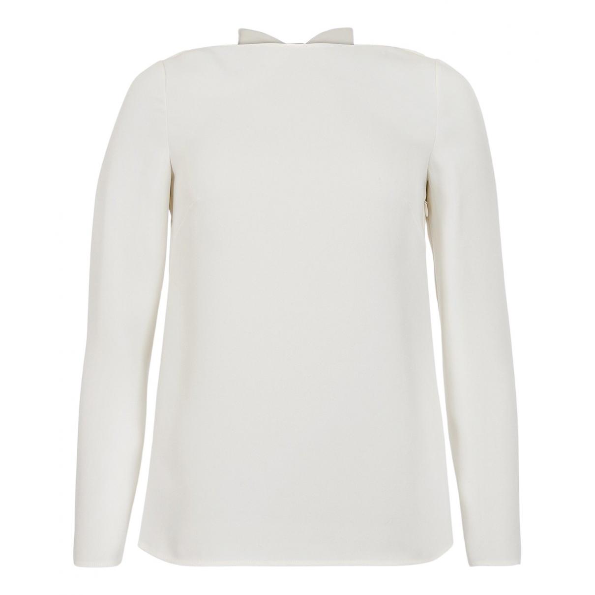 Valentino Garavani \N Ecru Silk  top for Women 8 UK
