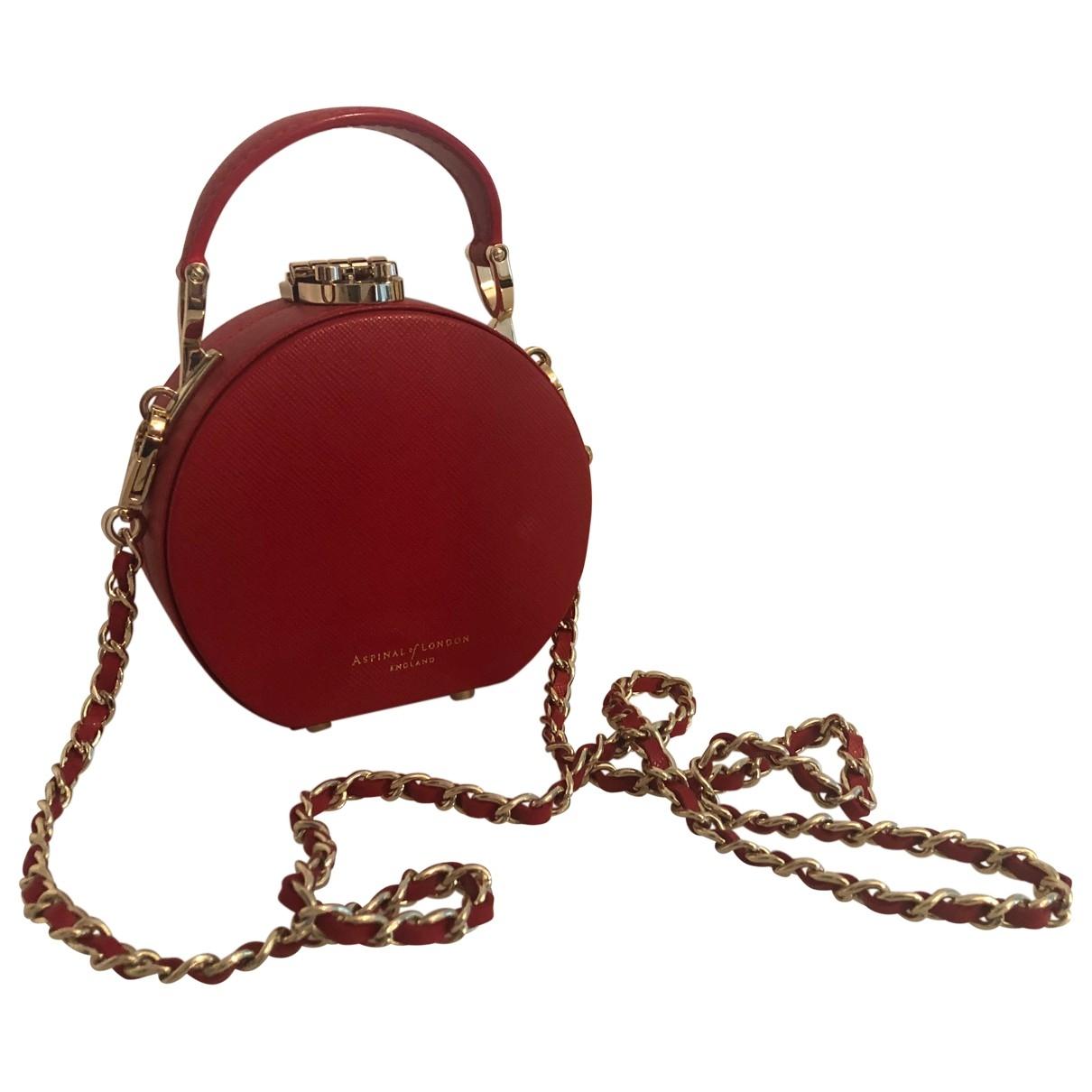 Aspinal Of London - Sac a main   pour femme en cuir - rouge