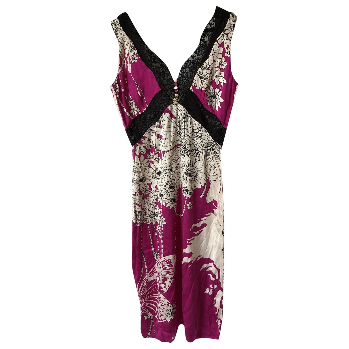 Roberto Cavalli \N Multicolour Silk dress for Women 40 IT