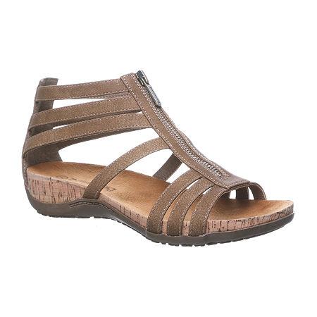 Bearpaw Womens Layla Flat Sandals, 10 Medium, Brown