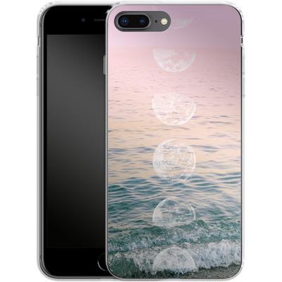 Apple iPhone 7 Plus Silikon Handyhuelle - Moontime Beach von Emanuela Carratoni