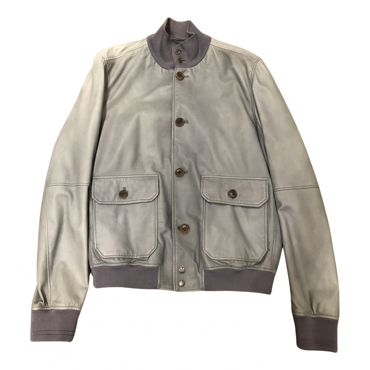 Cp Company N Grey Leather jacket  for Men 48 IT