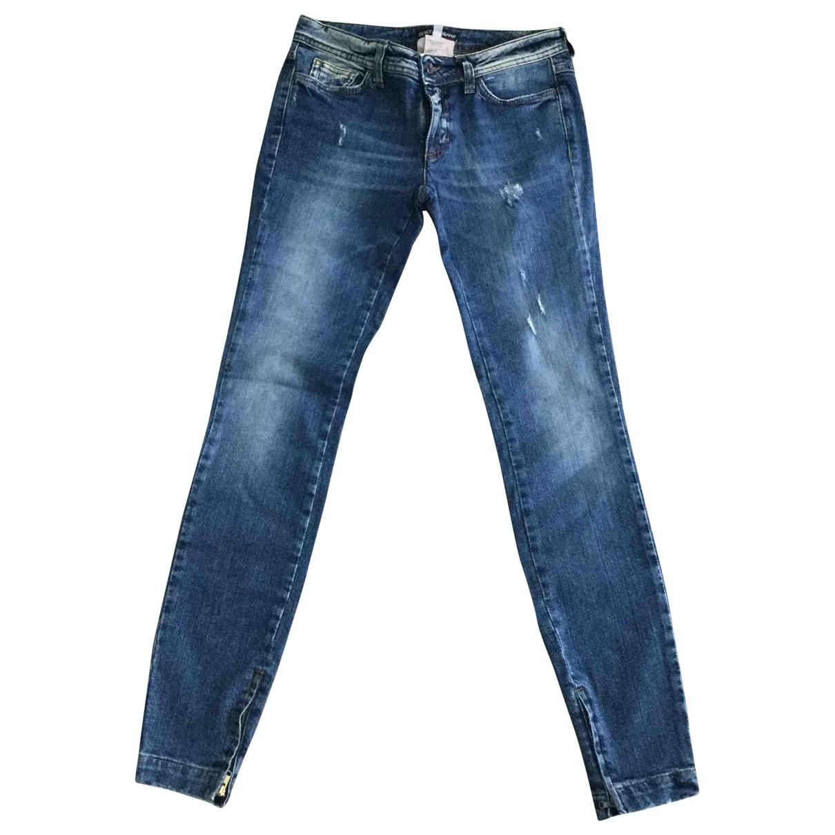 Dolce & Gabbana \N Navy Cotton - elasthane Jeans for Women 34 FR