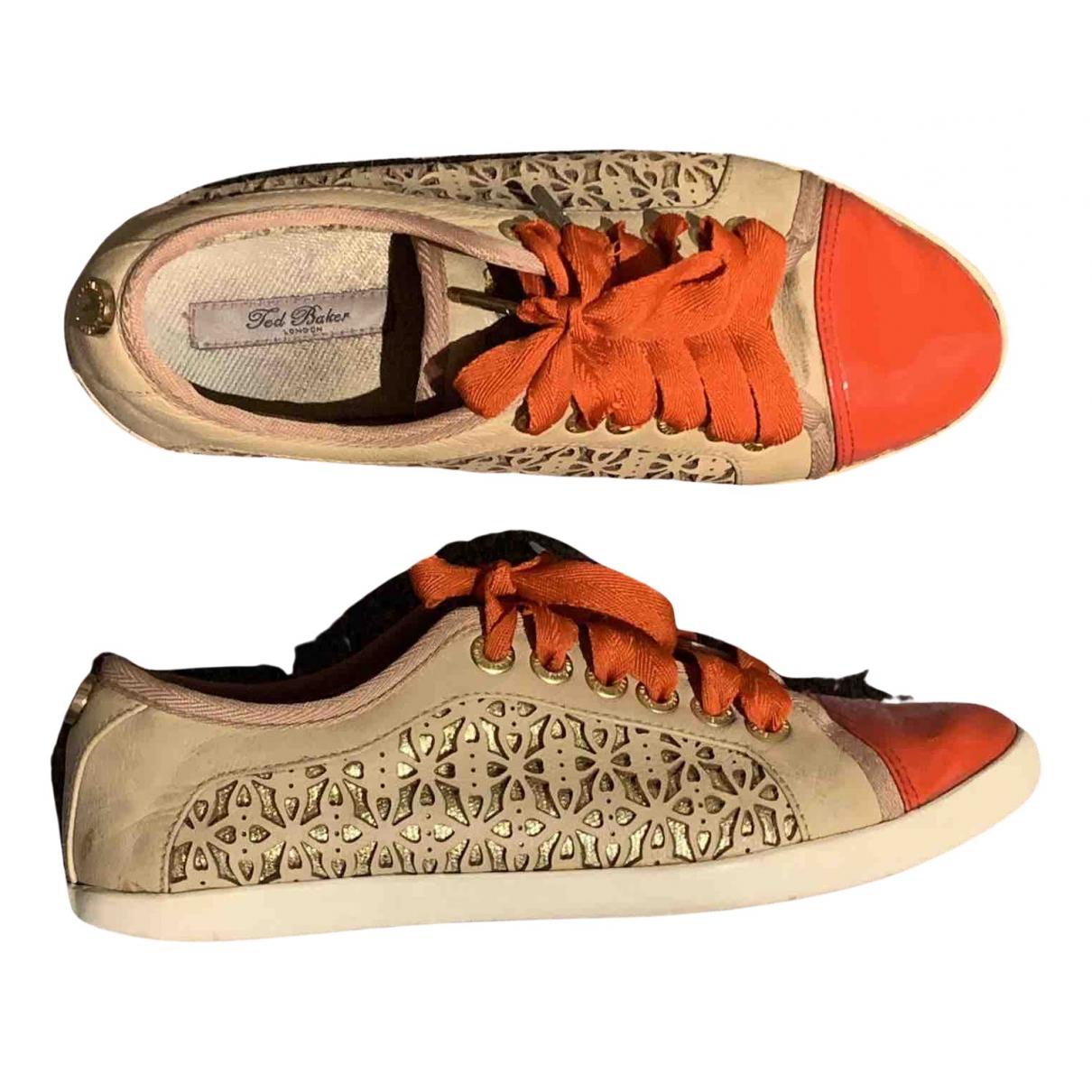 Ted Baker \N Sneakers in  Beige Leder