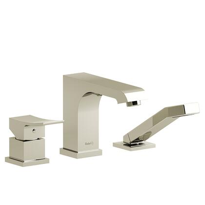 Zendo TZO10PN 3-Piece Deck Mount Tub Filler with Hand Shower Trim  in Polished