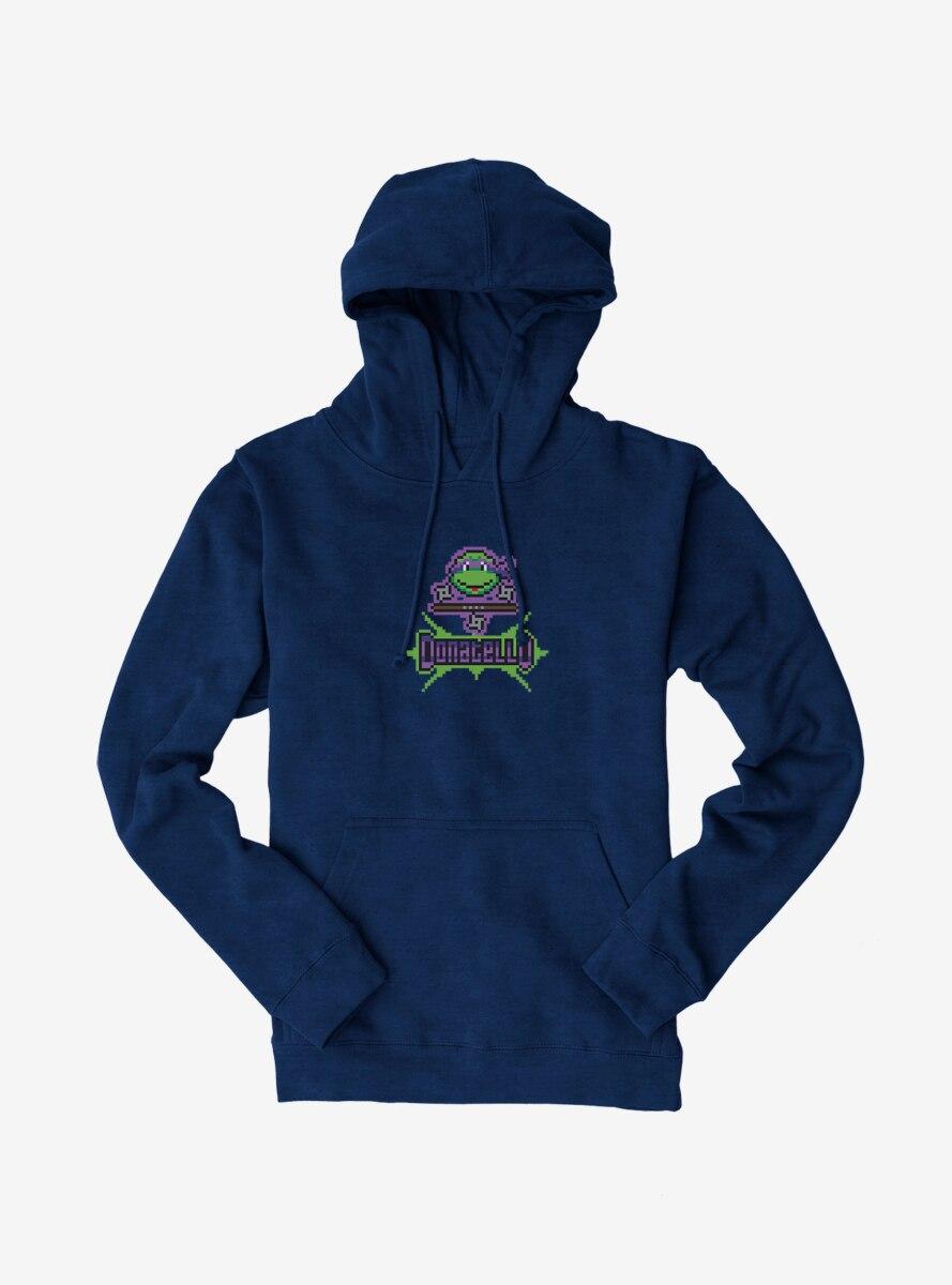Teenage Mutant Ninja Turtles Donatello Pixelated Face Hoodie