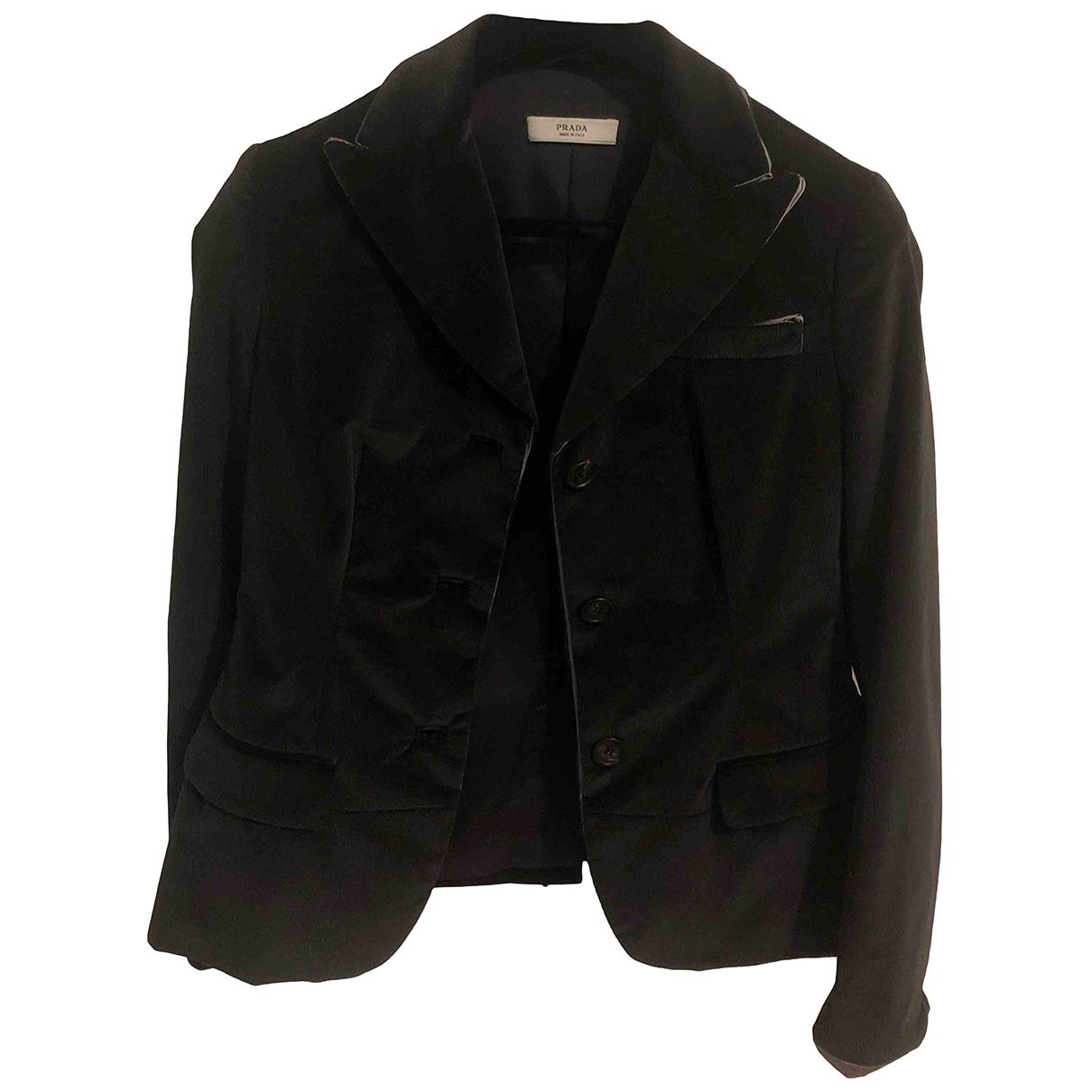 Prada - Veste   pour femme en velours - noir