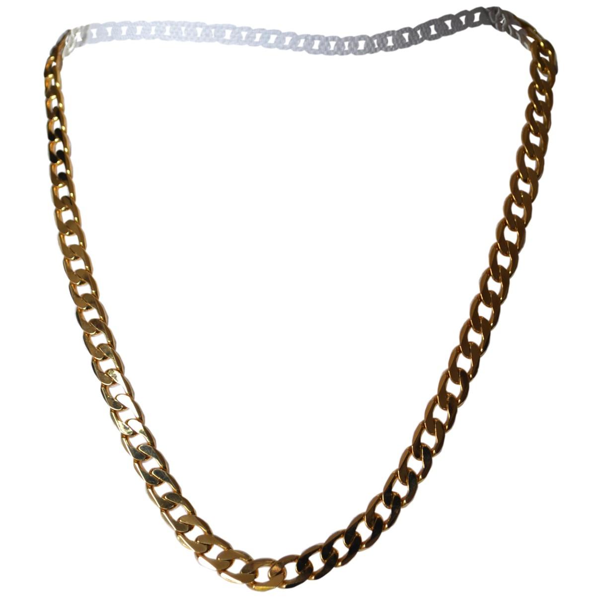 - Collier Chaines pour femme en plaque or - dore