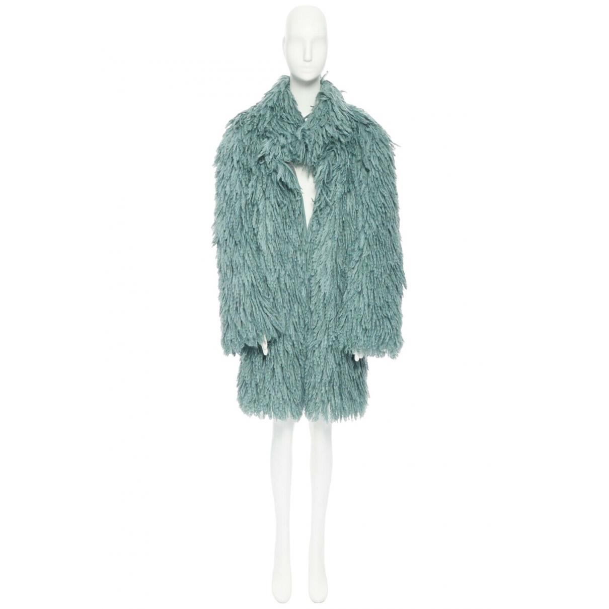 Bottega Veneta - Manteau   pour femme en laine - vert