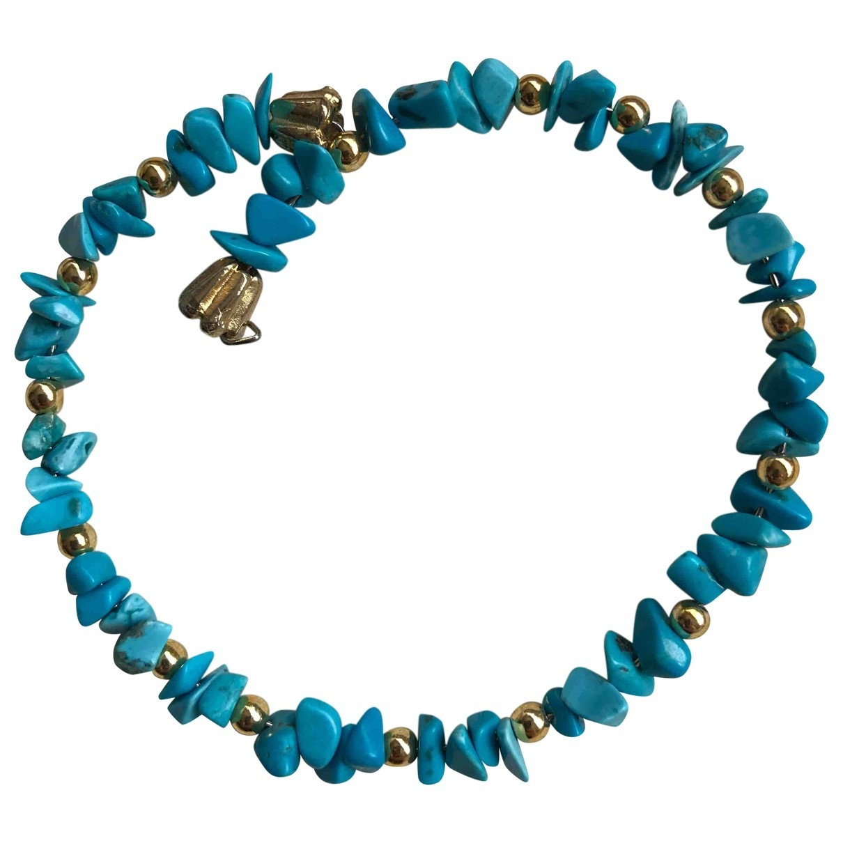 Non Signé / Unsigned Turquoises Turquoise Metal bracelet for Women \N