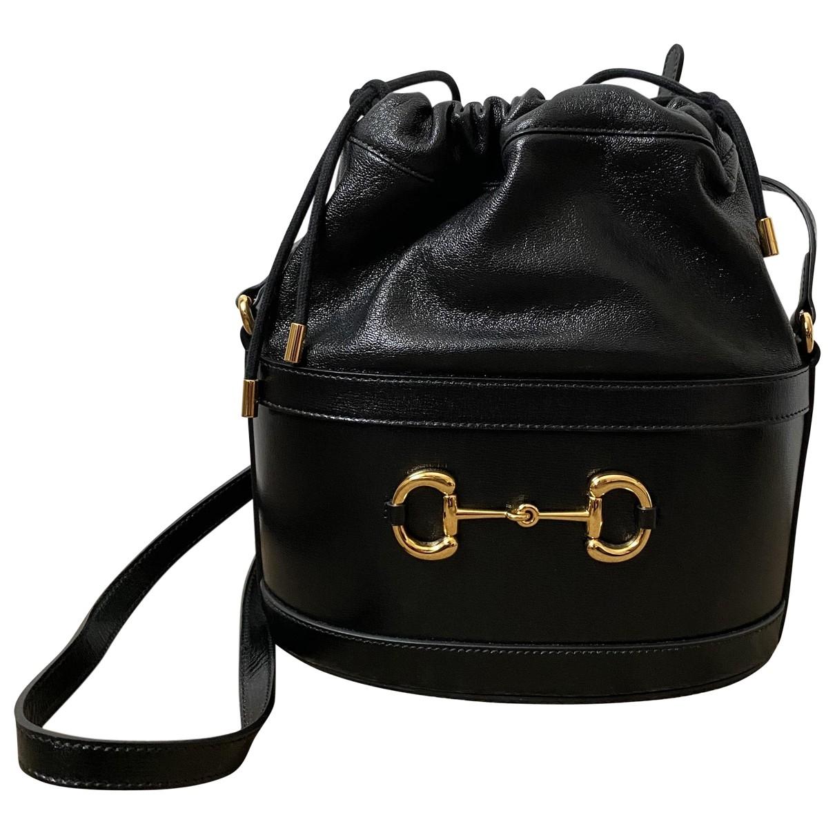 Gucci 1955 Black Leather handbag for Women \N