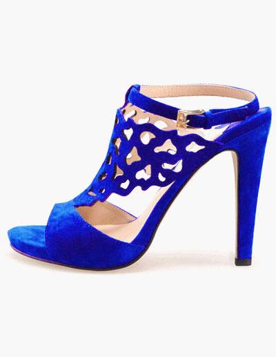 Milanoo Sandalias de piel sintetica azul