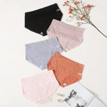 5pack Lace Trim Panty Set